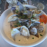 Hog Island's version of chowder