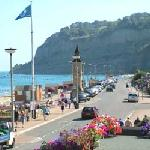 View from hotel over Shanklin promenade