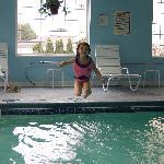 Daughter enjoying pool