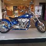 Harley Davidson on display