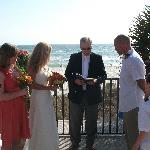 Ceremony on the Driftwood sundeck