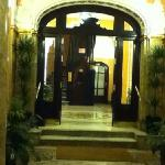 the entrance in the lobby