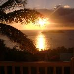 Coucher de soleil de notre balcon