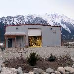 Front of the Distillery with Mt. Currie behind