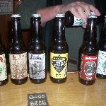 The six different samples were poured one at a time.