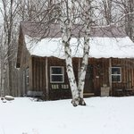 The little cabin in the snow