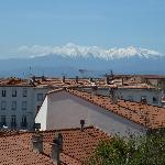 View to the Pyrenees from our bedroom