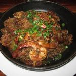 Jambalaya (very spicy) - as they warn on the menu