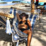 Back yard beach and hammocks