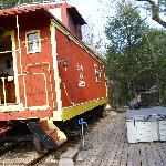 Caboose,  Deck and Hot tub