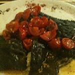 ravioli al nero di seppia con baccala'