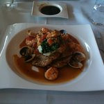 Veal with seafood sauce- a signature dish