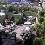the back patio of the fat cat, Bangor