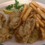 Fried Oysters, Onion Ring & Seasoned Fries