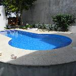 Perfectly clean pool... a little chilly, but my hubby enjoyed it!