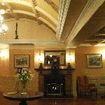 Fire place in reception