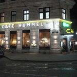 Cafe Hummel Fassade nachts