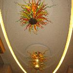 Amazing glass fixtures in the lobby - Dale Chihuly??