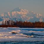 The view 1/4 mile from Talkeetna Cabins