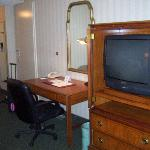 old school tv and work station