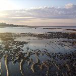 Low tide - walk right outside resort 6am