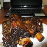 Ribs 30 hours later next to netbook