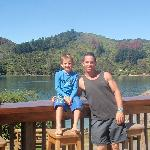 My nephew and I on another visit to Lochmara