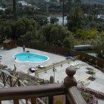 Foto de la piscina desde el balcon