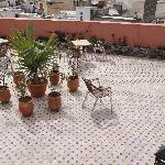 Lower Roof Terrace on Hotel Bab Boujloud (2)