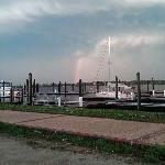 Rainbow early eve New Bern