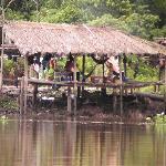 Hütte der Einheimischen im Delta