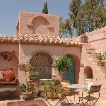 Relax in the Moorish patio