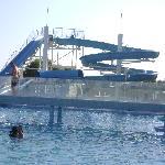 le toboggan de la piscine