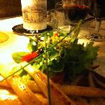 asperges du cru,  réduction de volailles et salade !
