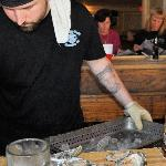 Shucked right in front of you