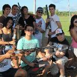 Get your group together for the ultimate shooting game - Laser Clay Shooting!