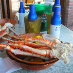 Alaskan King Crab Legs and beers