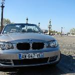 Brand new cabrio car with private chauffeur