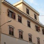 the facade looking inland