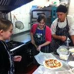 Pizza making on a school holiday afternoon