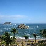 Vista isla tortuga desde el hotel