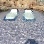 jacuzzi beds at the Beach Club