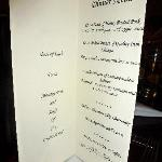 Personalized menus from The Grand