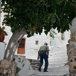 Byzantine town in the hills above paros