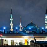 Balcony view of Blue Mosque and restaurant across the street