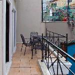 Balcony outside delux room