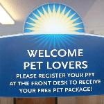 Pet Lovers Welcomed Here