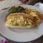 Rock lobster curry baguette 290baht