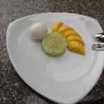 Sticky rice, mango & coconut icecream - delicious