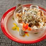Delicious muesli. Made with love and served with a flower :)